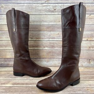 Cole Haan Brennan Tall Leather Brown Riding Boots